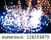 Defocused bokeh from christmas decoration light. - stock photo