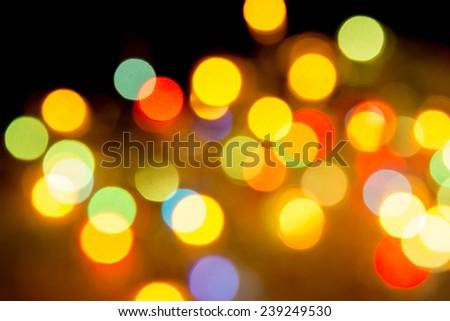 defocused bokeh lights  - stock photo