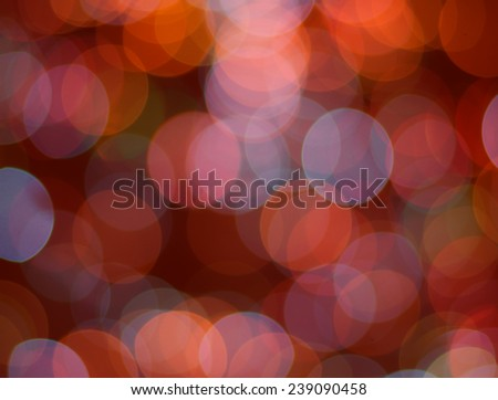 Defocused bokeh lights for backgrounds Christmas lights on soft colors tone
