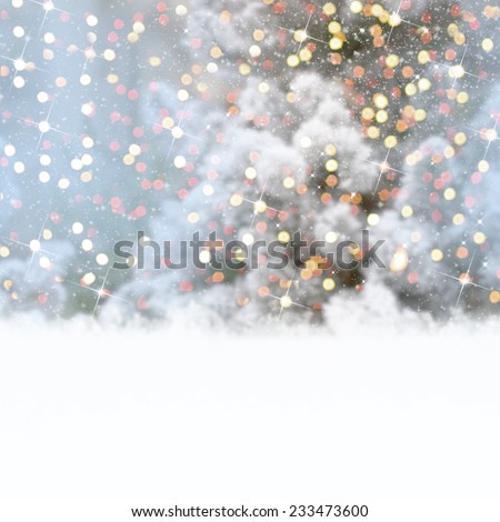 Defocused chrictmas background - stock photo