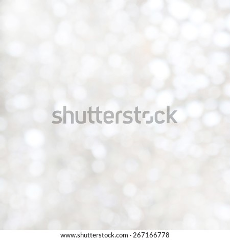 Defocused christmas background, White holiday abstract glitter defocused background  - stock photo