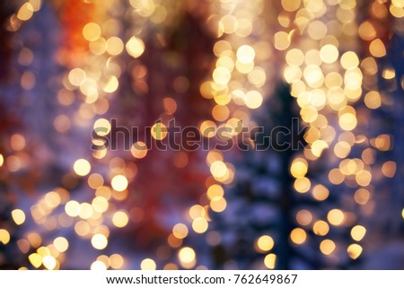defocused christmas lights, abstract background