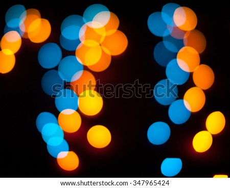 Defocused christmas lights. New Year bokeh. Abstract background for holiday design