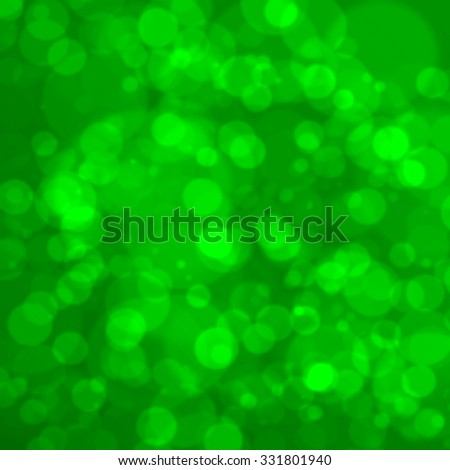 Defocused christmas or New Year green background. Blurred bokeh. - stock photo