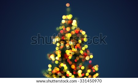 defocused christmas tree lights. computer generated holiday background - stock photo