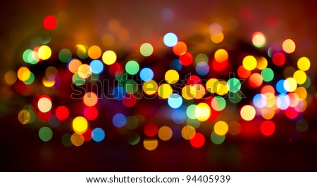 Defocused colored christmas day background. - stock photo