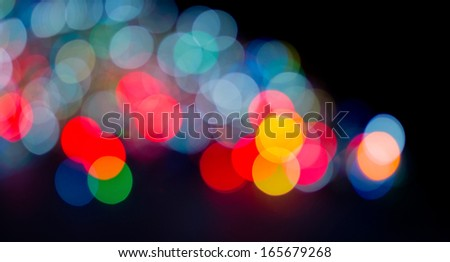 defocused colorfull glow