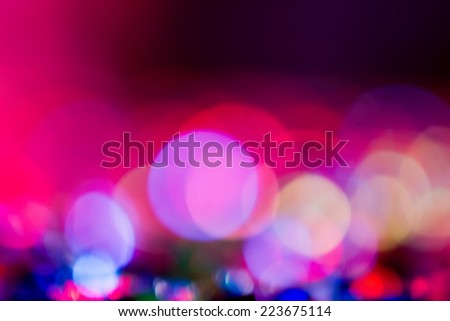 Defocused entertainment concert lighting on stage, bokeh. - stock photo