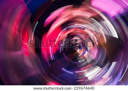 Defocused fairy lights.Colorful fusion spectrum, abstract - stock photo