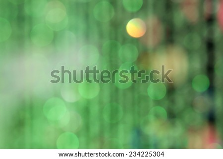 Defocused green abstract or bokeh Christmas and holiday background
