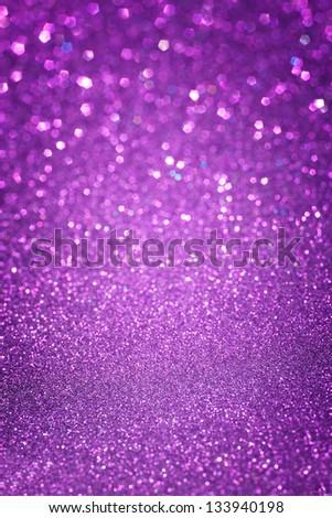 defocused lights background. abstract purple bokeh lights. purple glitter background - stock photo