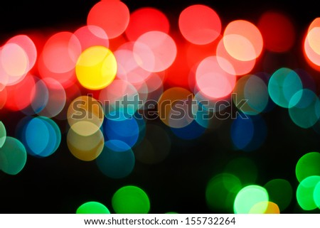 Defocused lights background.  Circle Bokeh