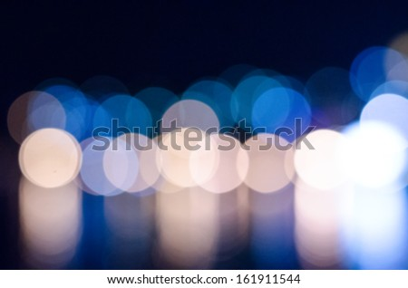 defocused lights in the city at night - stock photo
