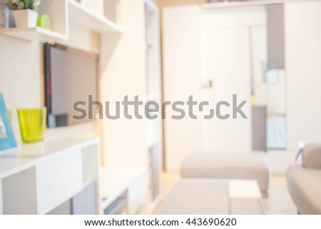 Defocused of  Living room Style ( Blur  Living room for background )