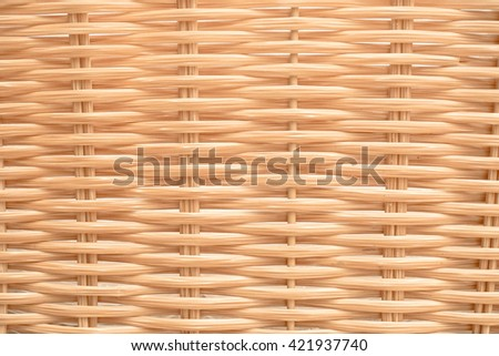 Defocused of woven rattan with natural pattern, Abstract for background  - stock photo