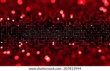 Defocused red blinking background. Abstract circular bokeh background. - stock photo