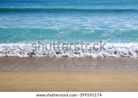 defocused sea shore beach background with copy space