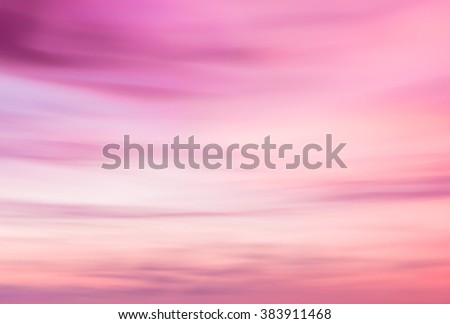 Defocused sunset sky  natural background with blurred panning motion.