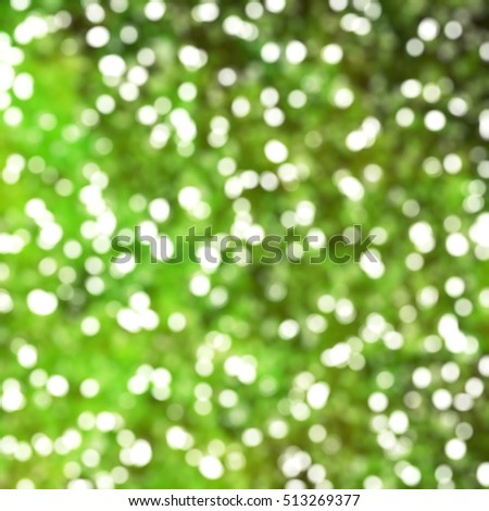 Defocused Unique Abstract Green Bokeh Festive Lights