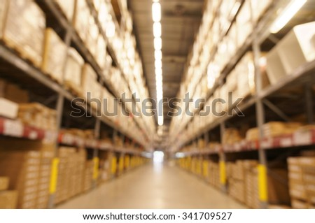 Defocused warehouse with multi-layer shelves