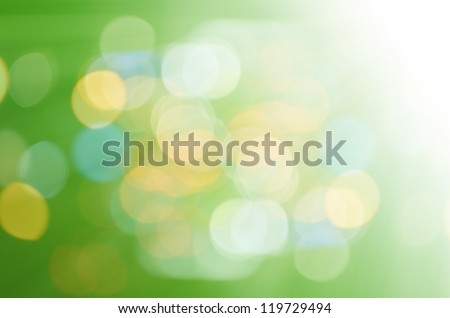 defocused with green light background