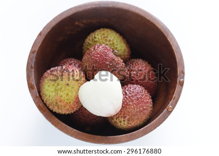 defrost lychee - stock photo
