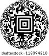 Defunct round bar code. - stock photo