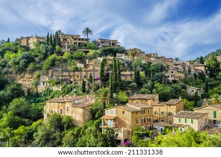 Deia village on Majorca - stock photo