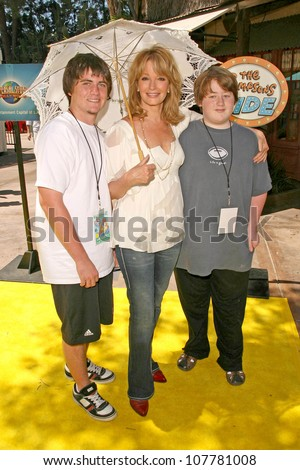 "Deidre Hall and sons at the Grand Opening of ""The Simpsons Ride"". Universal Studios Hollywood, Universal City, CA. 05-17-08"