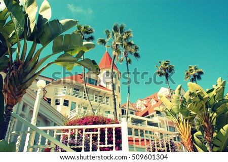 Del Coronado, San Diego, California. One of the most popular destinations on the west coast for weddings, honeymoons, vacations and anniversaries
