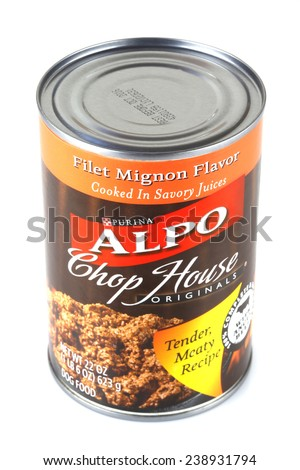 DeLand, FL, USA - December 19, 2014: Purina Alpo has launched a new brand of their popular dog food, Chop House Originals.  - stock photo