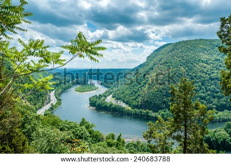 Delaware Water Gap - stock photo