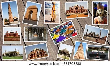 DELHI COLLAGE - stock photo