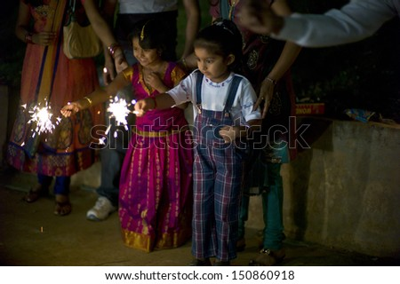children fireworks stock images royaltyfree images