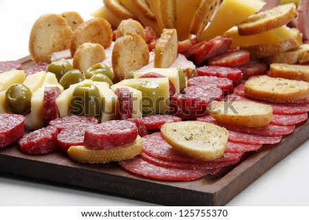 Deli table, argentina style (picada) - stock photo