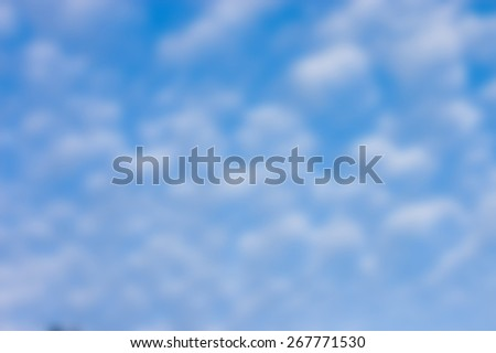 deliberately blurred cloud formations as an abstract background - stock photo