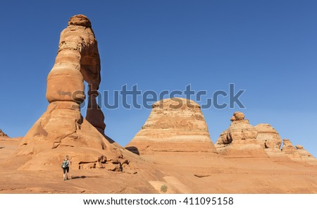 Delicate arch , Arches National Park - stock photo