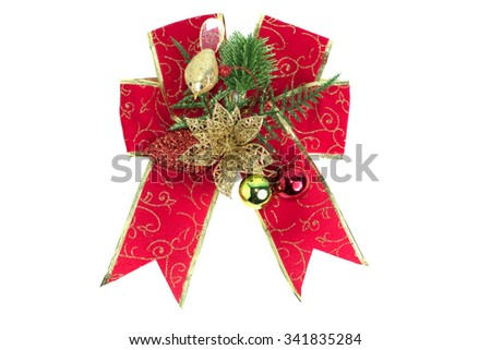 Delicate Christmas ornaments,Isolated on white background. - stock photo