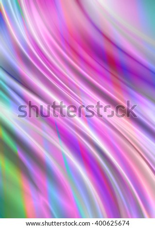Delicate curved wavy background with pink, blue and green hues  - stock photo