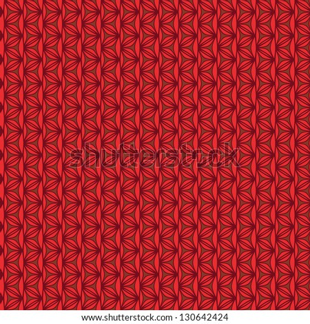 Delicate seamless knitted background in red tones. Wicker texture - stock photo