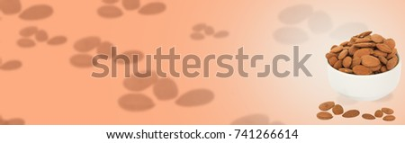 delicious almond designed in a brown background with text space
