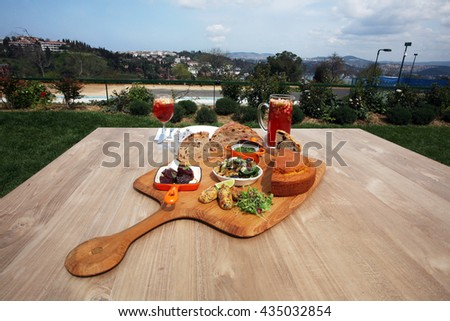 Delicious and healthy lunch. - stock photo