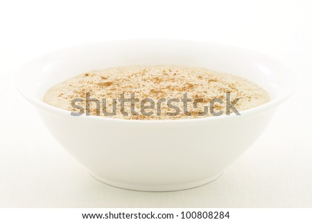 delicious and nutritious bowl of oatmeal, the perfect healthy way to start your day. - stock photo