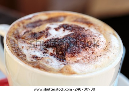 Delicious and tasty coffee cappuccino - stock photo