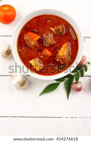 Delicious and traditional fish masala dish from Asian cuisine. - stock photo