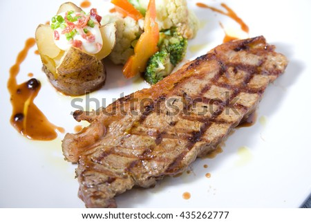 Delicious beef Tenderloin grill Steak