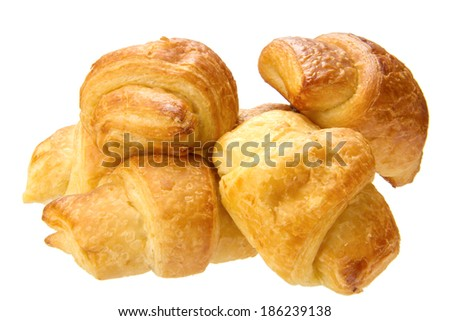 delicious bread isolated on the white background