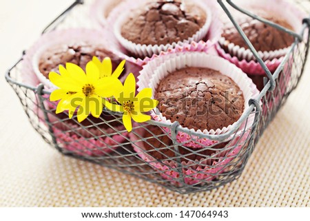 delicious brownie muffins - sweet food