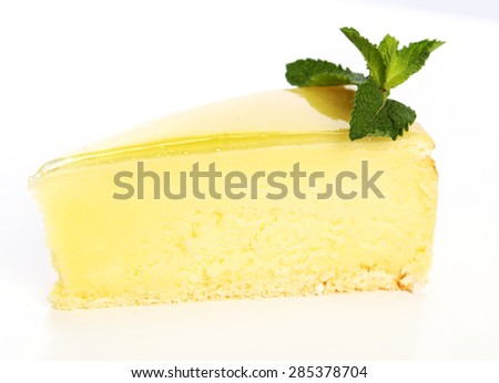 Delicious cake on the table - stock photo