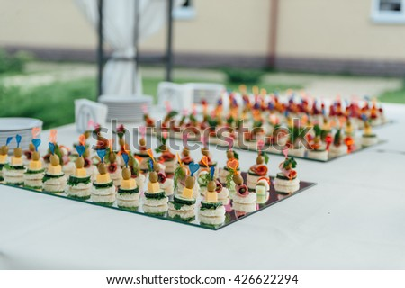 Food presentation stock images royalty free images for Canape display equipment